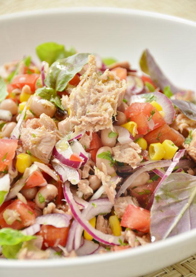 saladas de feijão frade