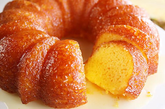 bolo de laranja com baunilha