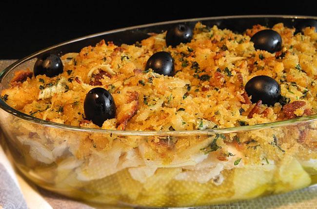 melhores receitas de bacalhau com broa