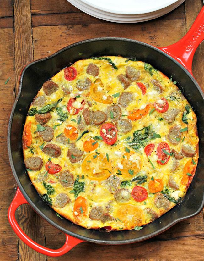 omeleta no forno