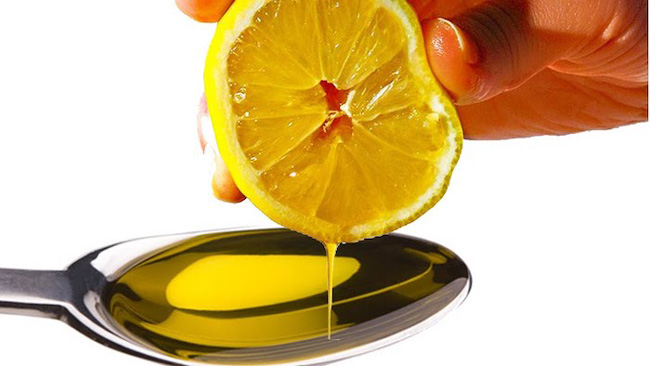 azeite e limão pela manhã
