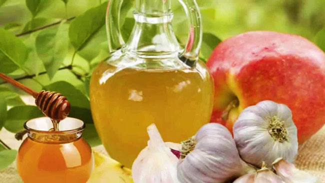 mel e vinagre de maçã