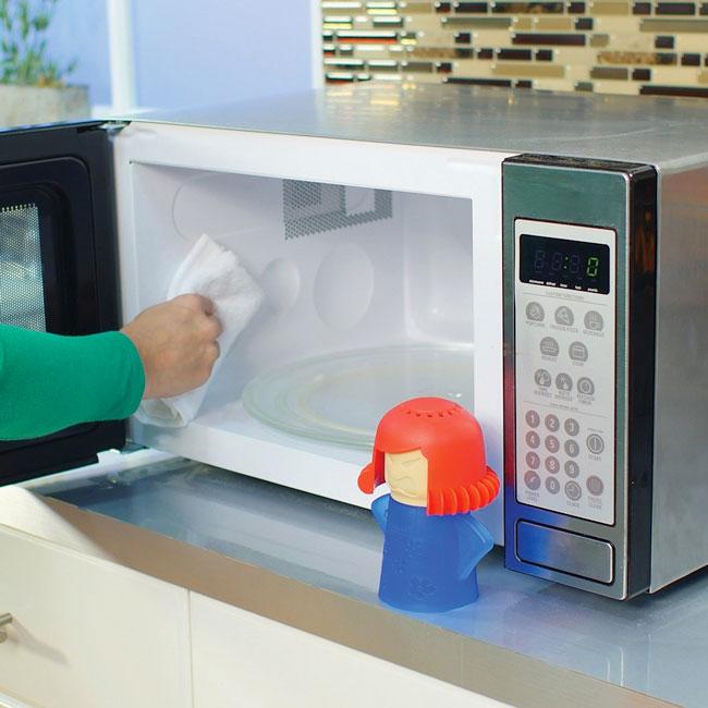 limpar o microondas