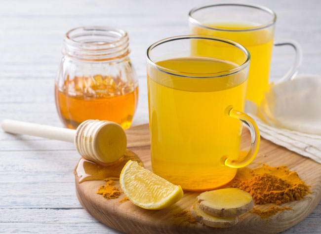 açafrão e limão diariamente