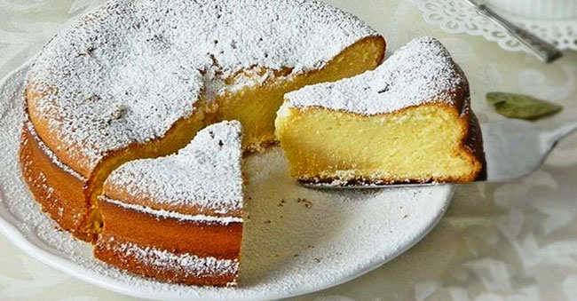 bolo cremoso de maçã