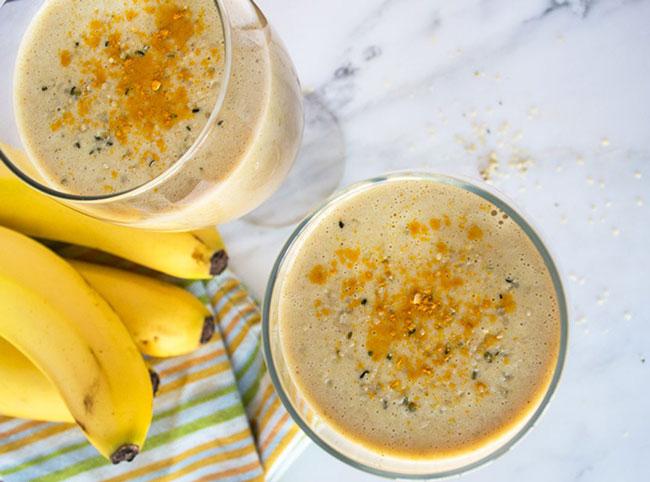 usar gengibre com banana