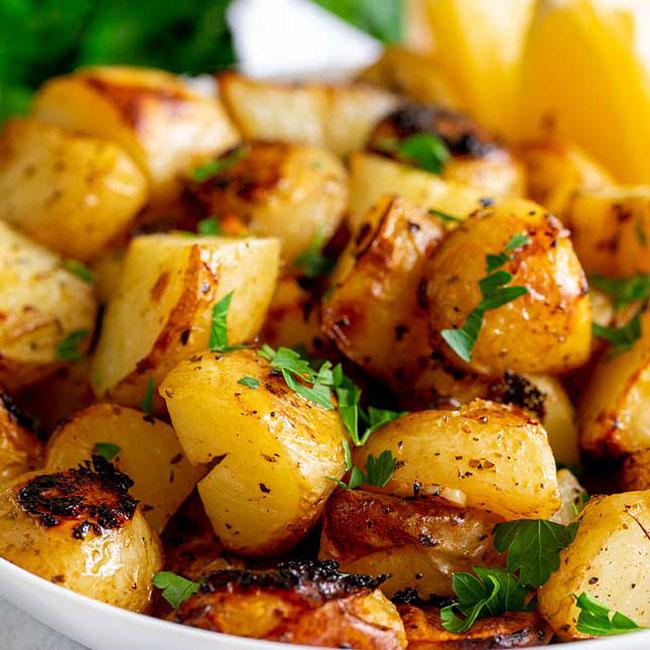 fazer batatas assadas como um Chef