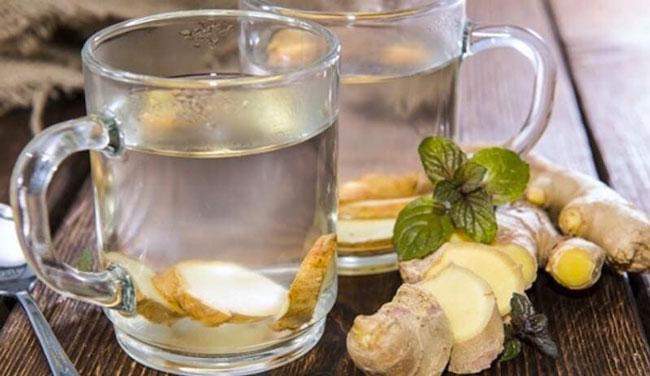 beber água de gengibre todos os dias