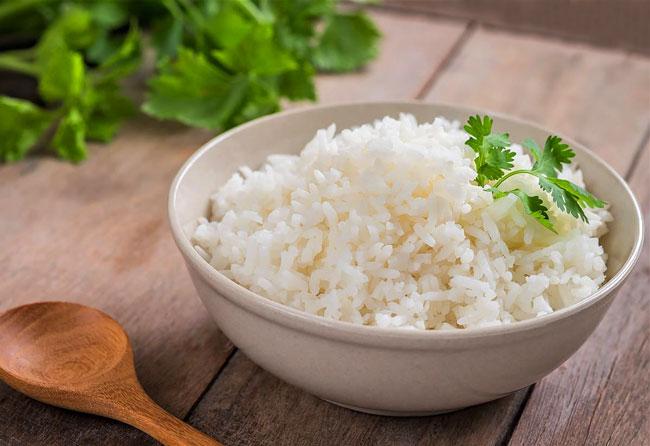 arroz seco e solto