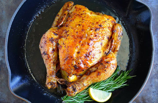 o frango assado no forno