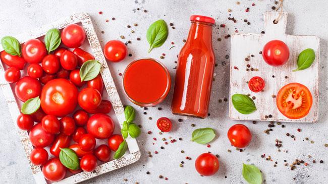 sumo de tomate pela manhã