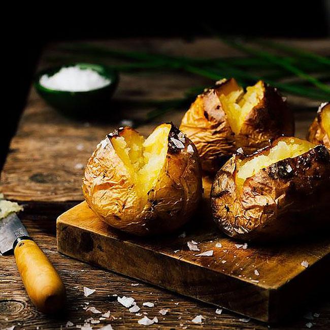 As melhores batatas assadas com casca