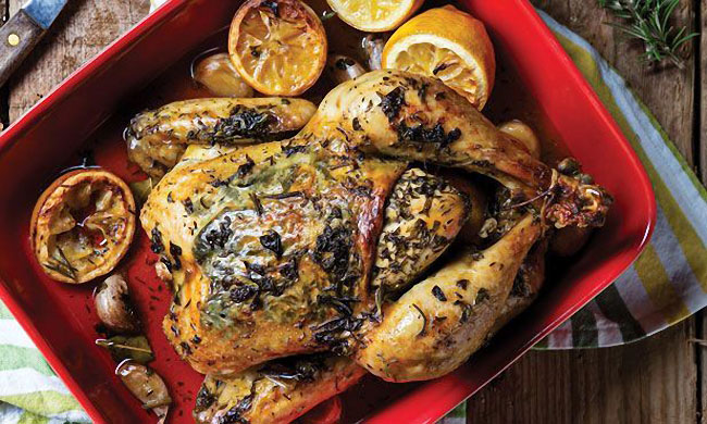 frango assado para almoços memoráveis em família