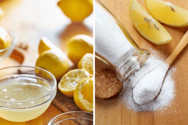bicarbonato de sódio com limão
