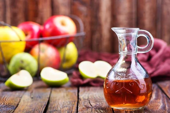 colher de vinagre de maçã