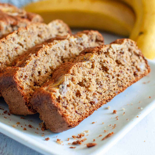 receitas de Bolo de Banana com aveia