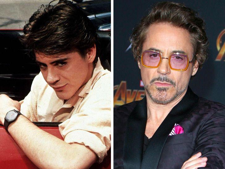 famosos de Hollywood aos 20 anos