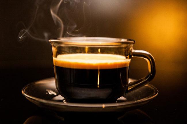 Depois de beber café
