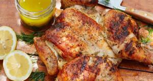 receitas de frango assado aberto