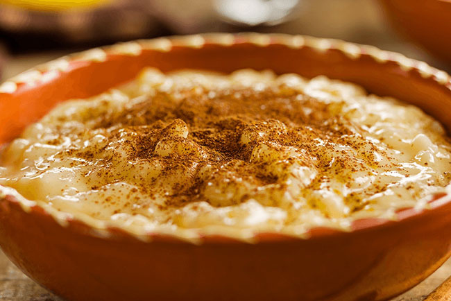receitas de arroz-doce cremoso