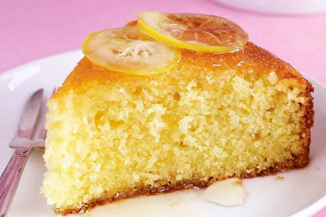 bolo de limão húmido