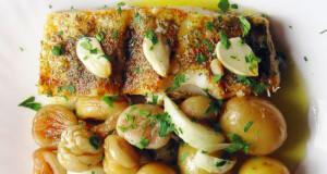 Bacalhau no forno com castanhas