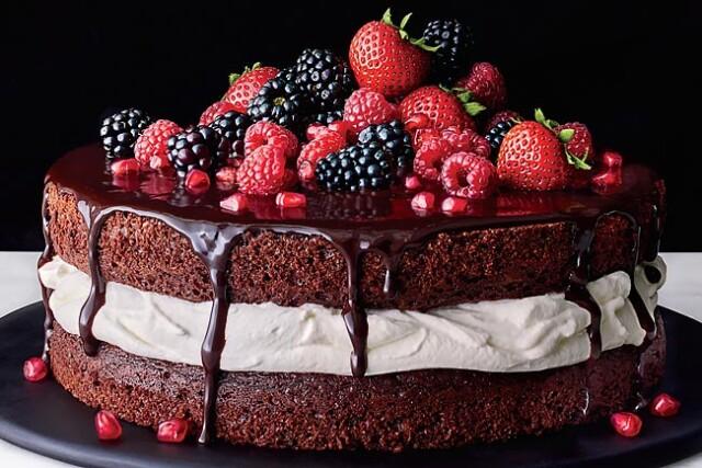 bolo de chocolate com recheio
