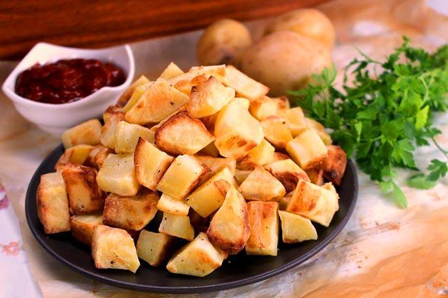 Batatas assadas especiais e suculentas