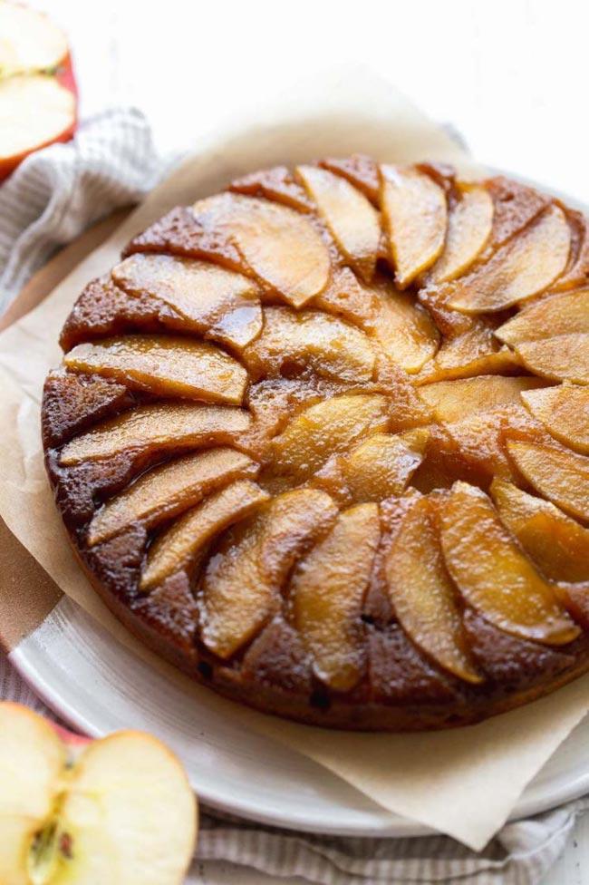 receitas de bolo de maçã e caramelo