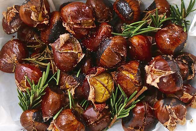 melhores receitas de castanhas assadas no forno