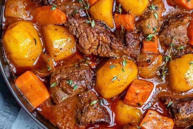 carne estufada como nos restaurantes
