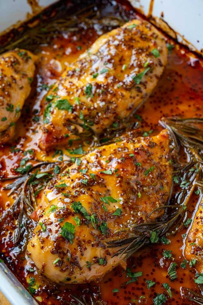 receitas de frango assado com mel