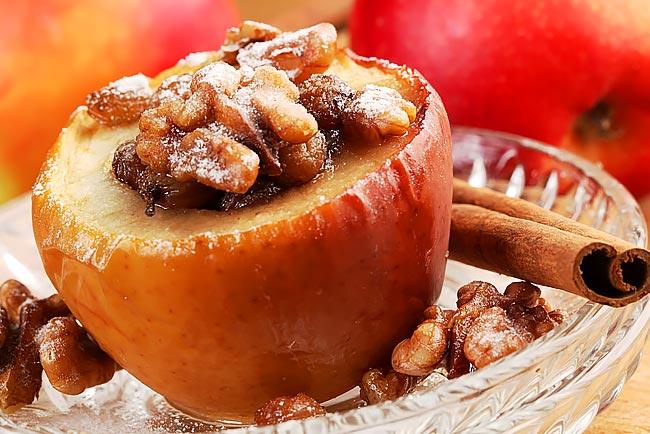 receitas de maçã assada recheada