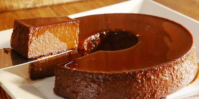 receitas de pudim de chocolate
