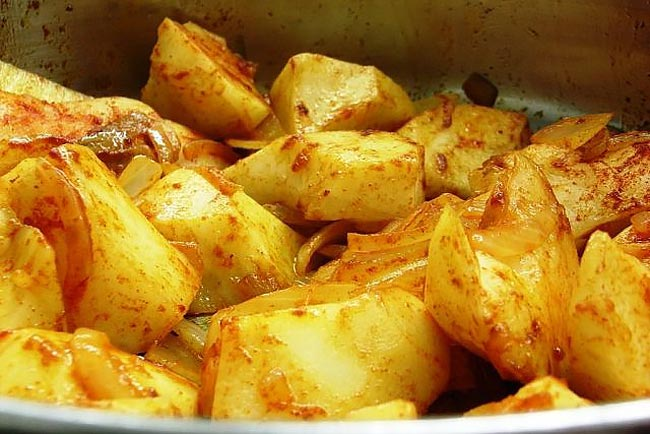 Batatas assadas deliciosas