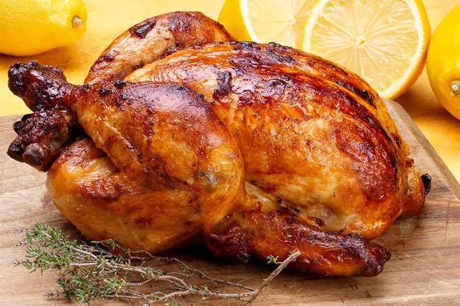 frango assado suculento e perfeito