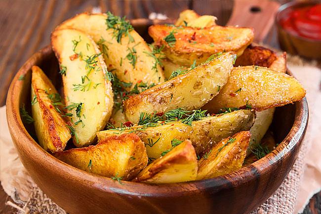Batatas assadas rústicas