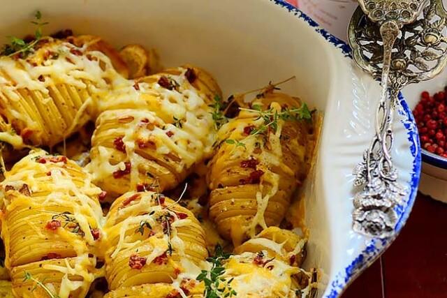 Batatas assadas deliciosas e