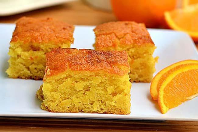 bolo de laranja com leite condensado