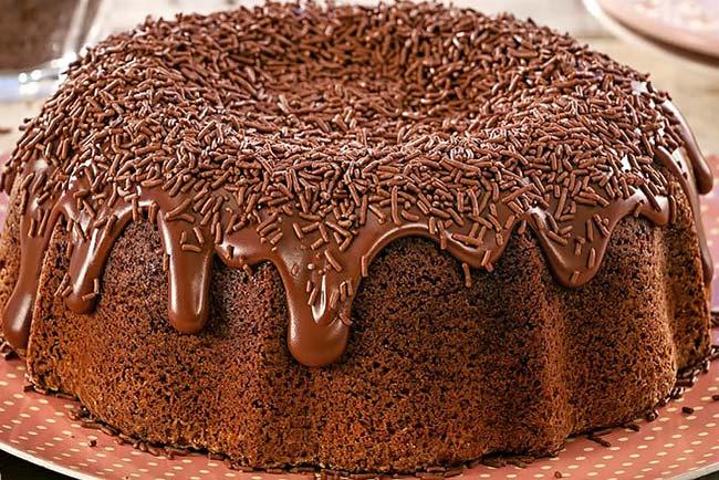 Bolo Vulcão de Chocolate