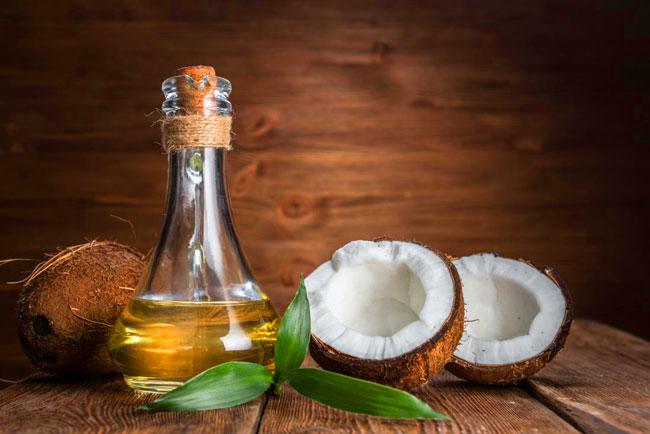 champô caseiro de óleo de coco