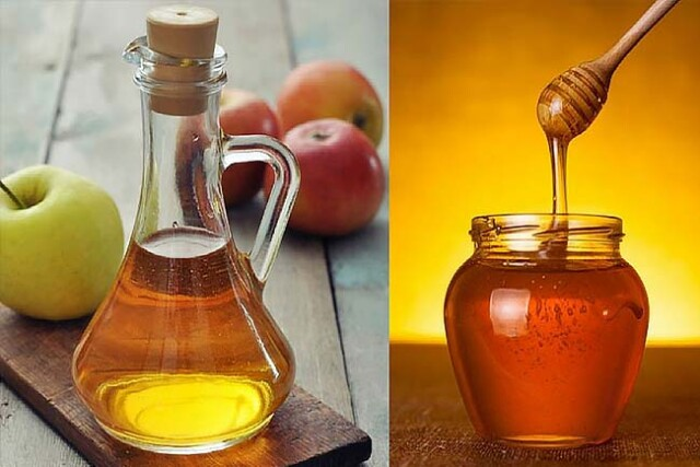 vinagre de maçã e mel