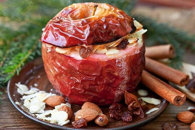 receitas de maçã assada no microondas