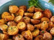 Suculentas batatas assadas