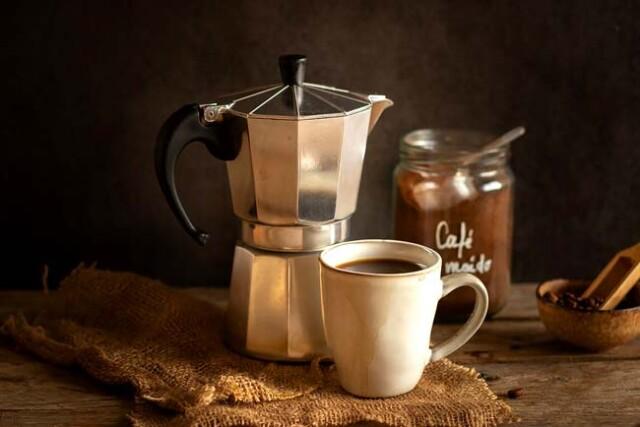 café de excelência no coador