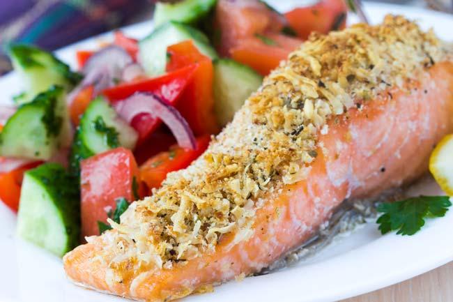 Faça salmão assado no forno