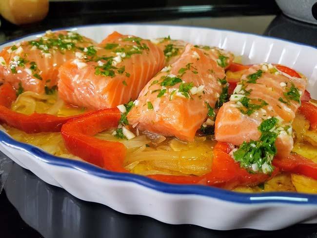 3 receitas de salmão assado