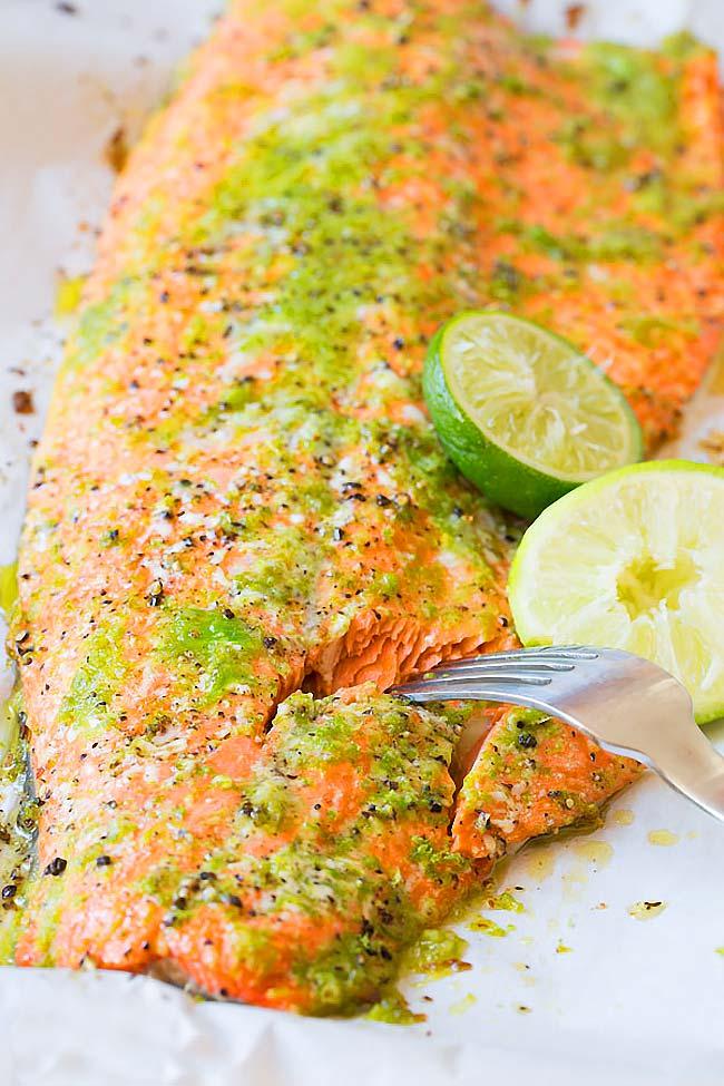 salmão assado no forno