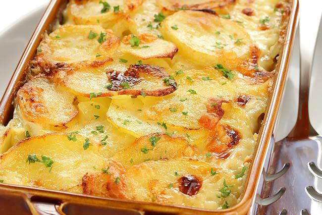 Batatas assadas saborosas