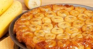 bolo de banana e canela